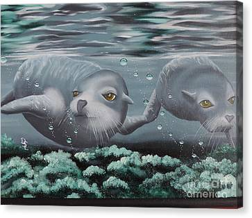 Canvas Print featuring the painting Serenity by Dianna Lewis