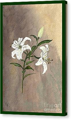 Canvas Print featuring the painting Serenity by Ella Kaye Dickey