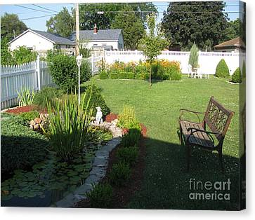 Canvas Print featuring the photograph Serenity Gardens by Margaret Newcomb