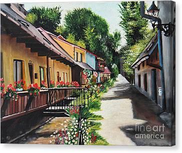 Serenity In Cieszyn - Cieszynska Wenecja Canvas Print by Ryszard Sleczka