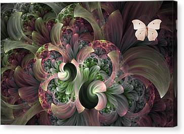 Canvas Print featuring the digital art Serenity by Lea Wiggins