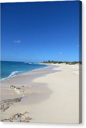 Canvas Print featuring the photograph Serenity On Grand Turk by Jean Marie Maggi
