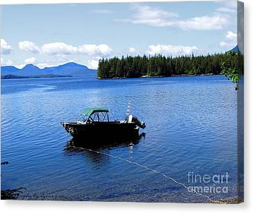 Serenity Outside Of Ketchikan Ak Canvas Print by Gena Weiser