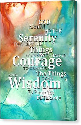 Serenity Prayer 1 - By Sharon Cummings Canvas Print by Sharon Cummings