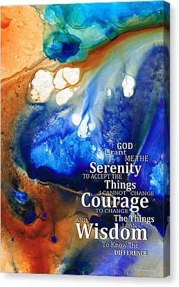 Serenity Prayer 4 - By Sharon Cummings Canvas Print by Sharon Cummings