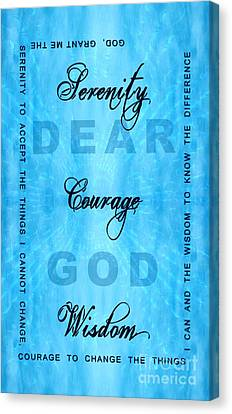 Serenity Prayer Dear God Canvas Print by Margaret Newcomb