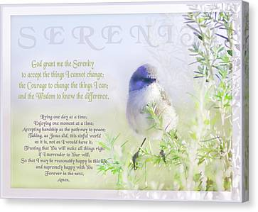 Serenity Prayer Canvas Print by Holly Kempe