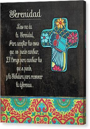 Serenity Prayer Canvas Print by Jo Moulton