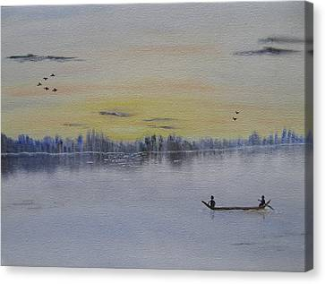 Bob Ross Canvas Print - Serenity by Sayali Mahajan