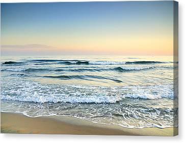 Serenity Sea Vintage Canvas Print by Guido Montanes Castillo