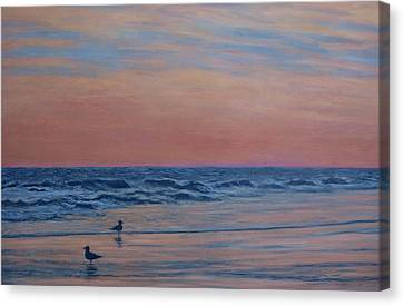Canvas Print featuring the painting Serenity - Study For Dusk At The Shore by Kathleen McDermott