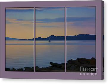 Serenity Tryptych Canvas Print by Chris Thaxter