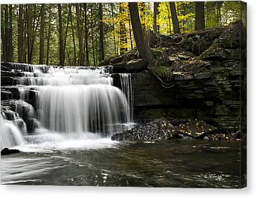Canvas Print featuring the photograph Serenity Waterfalls Landscape by Christina Rollo