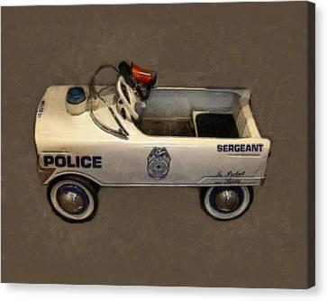 Sergeant Pedal Car Canvas Print by Michelle Calkins