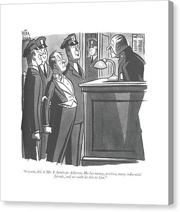 Police Officer Canvas Print - Sergeant, This Is Mr. J. Stanhope Alderson by Peter Arno