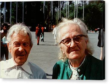 Sergei And Cecilia Gaposchkin Canvas Print by Emilio Segre Visual Archives/american Institute Of Physics