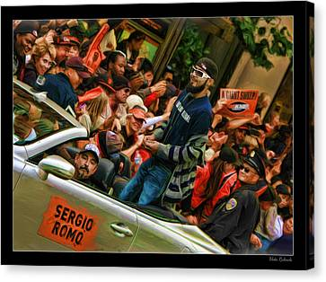 Sergio Romo World Series 2012 Canvas Print by Blake Richards