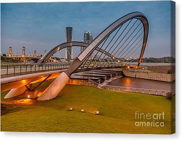 Seri Empangan Bridge Canvas Print by Adrian Evans