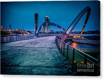Seri Gemilang Bridge 1 Canvas Print by Adrian Evans