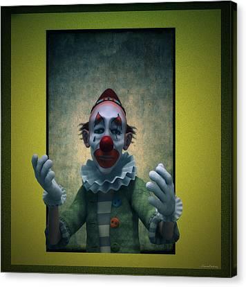 Serious Discourse Canvas Print by Ramon Martinez