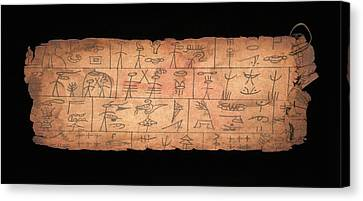 Serpent King Sacrifices Canvas Print by Library Of Congress