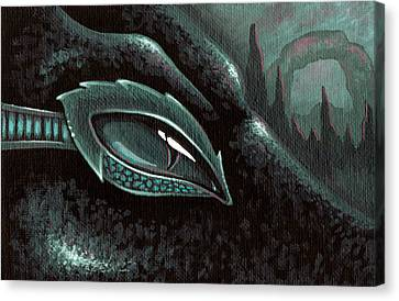 Serpent Of The Coral Gardens Canvas Print by Elaina  Wagner