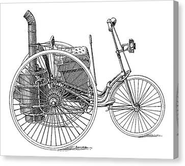 Tricycle Canvas Print - Serpollet Steam Tricycle by Science Photo Library