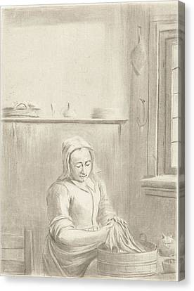 Servant With Tub, Jurriaan Cootwijck Canvas Print by Jurriaan Cootwijck