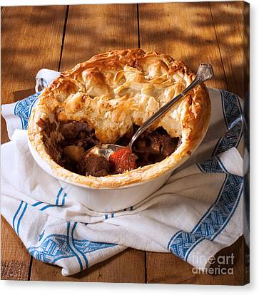 Serving Game Pie Canvas Print by Amanda Elwell