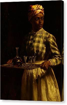 Serving Maid Canvas Print by Thomas Waterman Wood