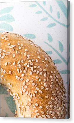 Sesame Bagel Canvas Print