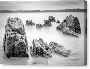 Canvas Print featuring the photograph Seselle Beach Galicia Spain by Pablo Avanzini