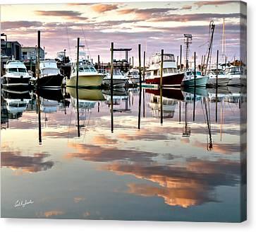 Sesuit Harbor Pastel Reflections Canvas Print