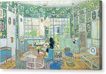 Set Design For Ibsens Stage Play Little Eyolf, 1907 Wc On Cardboard Canvas Print