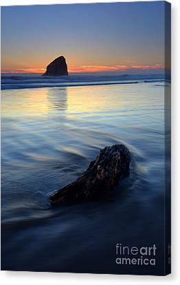 Sea Scape Canvas Print - Set In Sand by Mike  Dawson