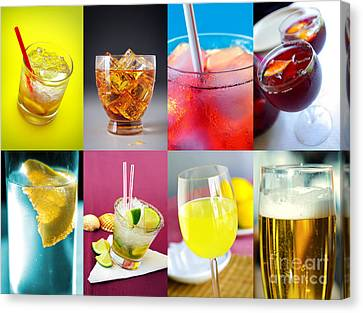 Set Of Drinks Canvas Print by Carlos Caetano