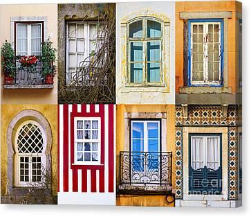 Set Of Windows Canvas Print by Carlos Caetano