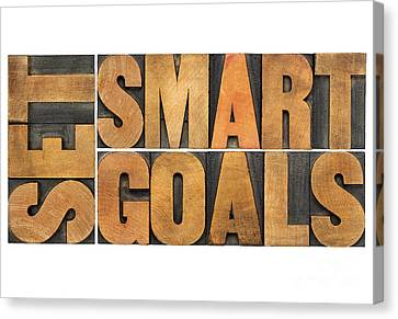 Set Smart Goals In Wood Type Canvas Print