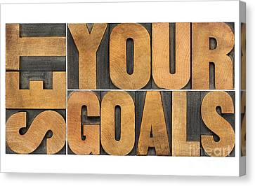 Set Your Goals  Canvas Print