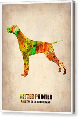Setter Pointer Poster Canvas Print by Naxart Studio