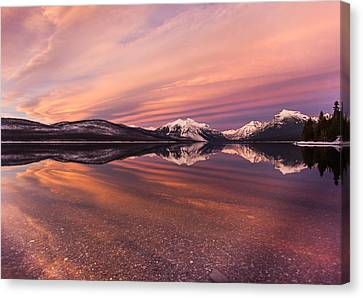 Setting On Glacier Canvas Print by Aaron Aldrich