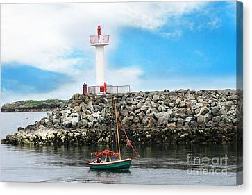 Setting Out Howth Ireland Canvas Print by Jo Collins