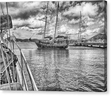 Canvas Print featuring the photograph Setting Sail by Howard Salmon