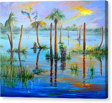 Settling In Viera Canvas Print by AnnaJo Vahle