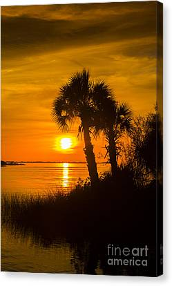 Settting Sun Canvas Print by Marvin Spates