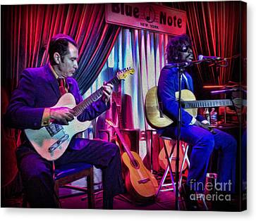 Seu Jorge At The Blue Note Nyc Canvas Print by Lee Dos Santos