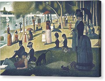 Seurat, Georges 1859-1891. A Sunday Canvas Print by Everett