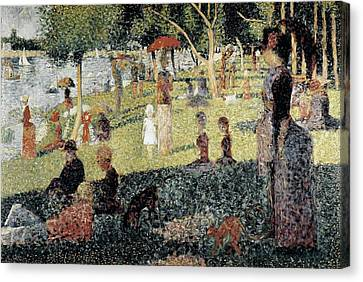 Seurat, Georges 1859-1891. An Afternoon Canvas Print by Everett