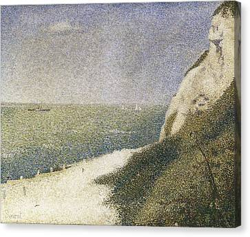 Seurat, Georges 1859-1891. Beach At Bas Canvas Print by Everett