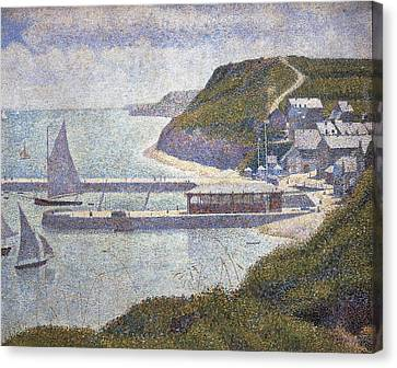 Seurat, Georges 1859-1891. Harbour Canvas Print by Everett